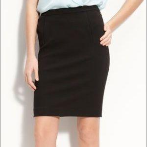 DVF Kimmie Black Pencil Mini Knit Skirt 2 XS